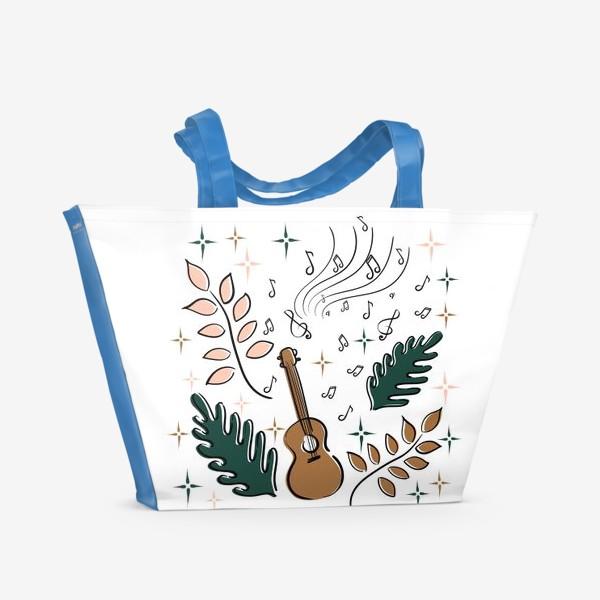 Пляжная сумка «Я играю на укулеле»