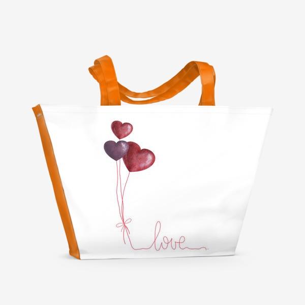 Пляжная сумка «С любовью»