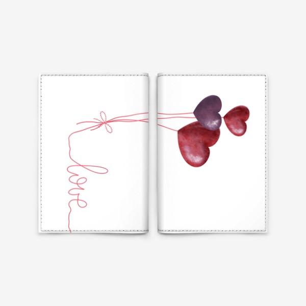 Обложка для паспорта «С любовью»