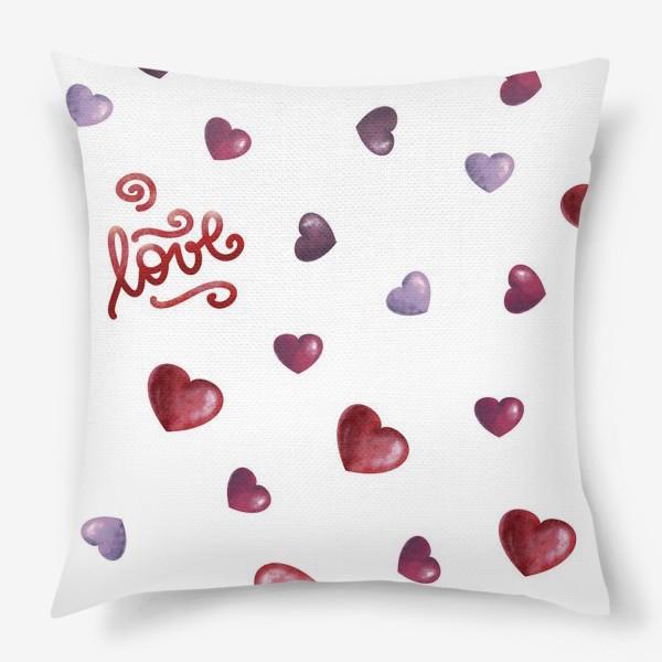 Подушка «сердечный паттерн»
