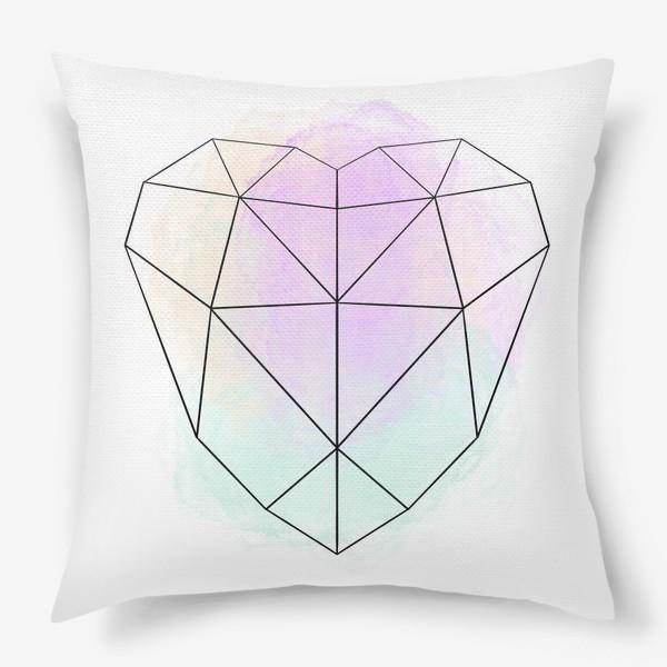 Подушка «полигональное сердце»
