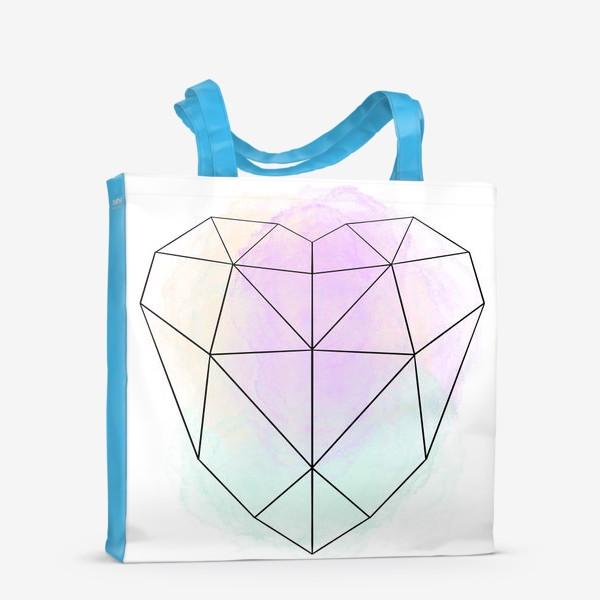 Сумка-шоппер «полигональное сердце»