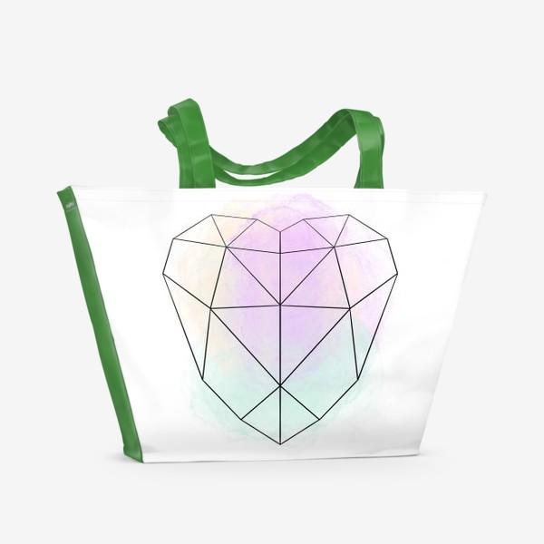 Пляжная сумка «полигональное сердце»