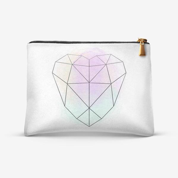 Косметичка «полигональное сердце»