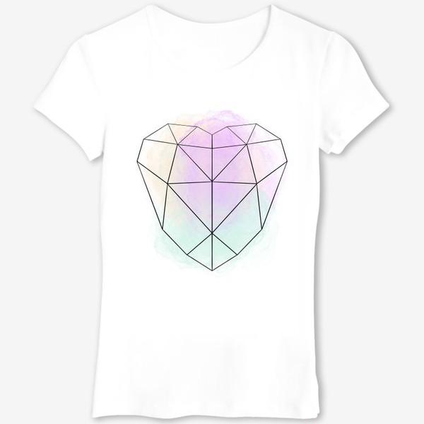 Футболка «полигональное сердце»