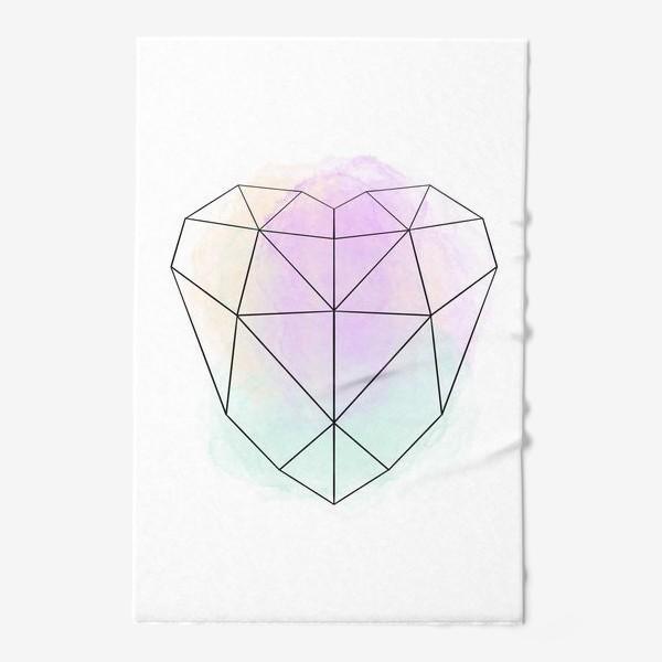 Полотенце «полигональное сердце»