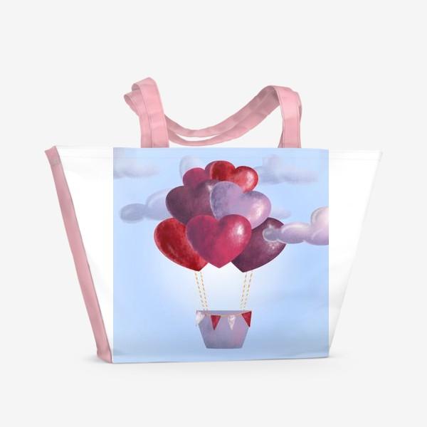 Пляжная сумка «Романтика в облаках»