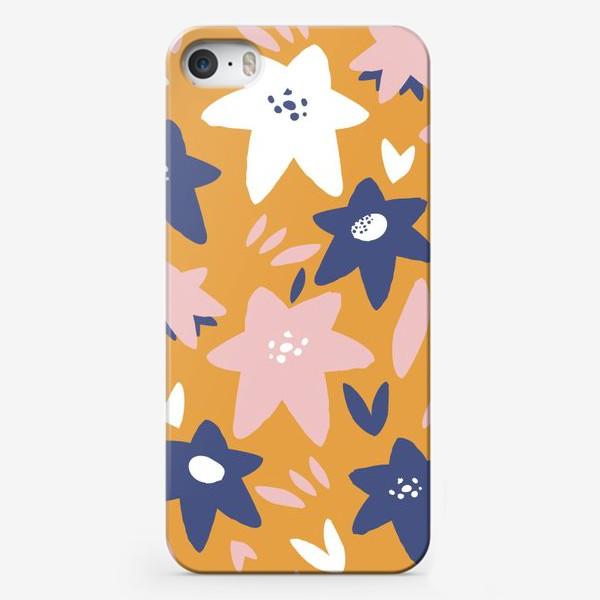 Чехол iPhone «Абстрактные цветы-звёзды»