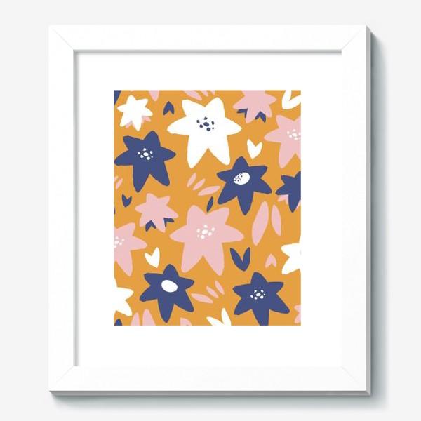 Картина «Абстрактные цветы-звёзды»