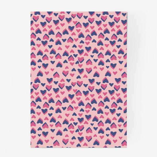 Постер «Паттерн розовые сердца»