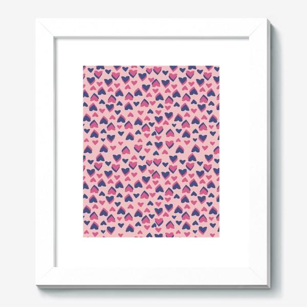 Картина «Паттерн розовые сердца»