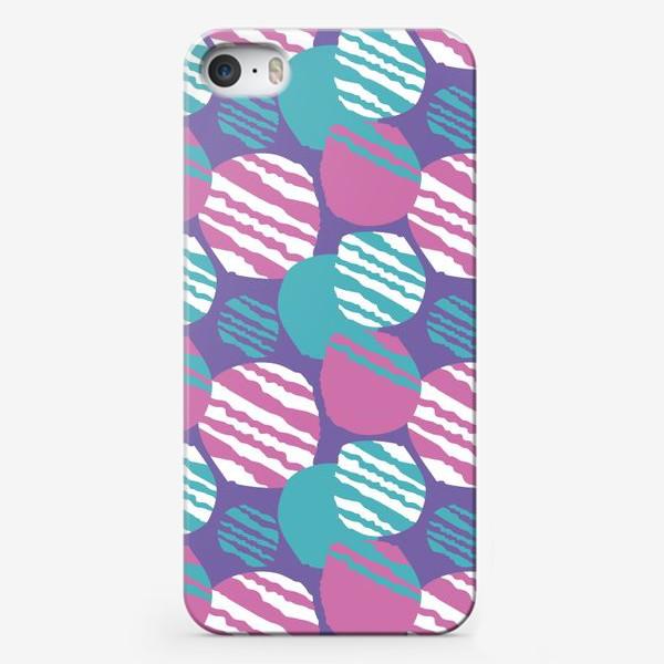 Чехол iPhone «яркий паттерн круги в полоску»