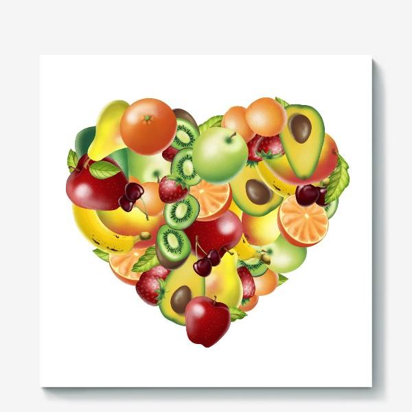 Холст «фруктовое сердце»