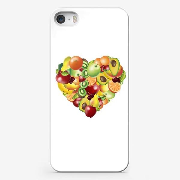 Чехол iPhone «фруктовое сердце»