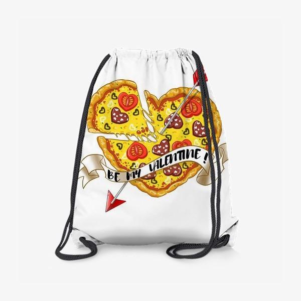 Рюкзак «пицца на день святого валентина»