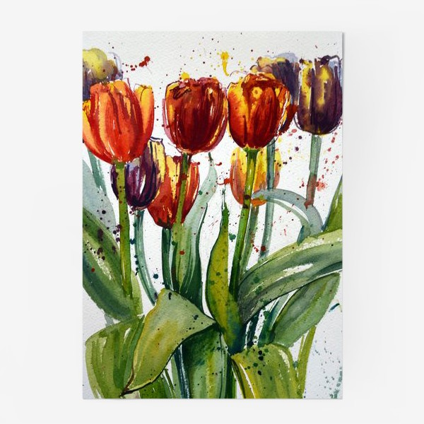 Постер «Тюльпаны акварелью»