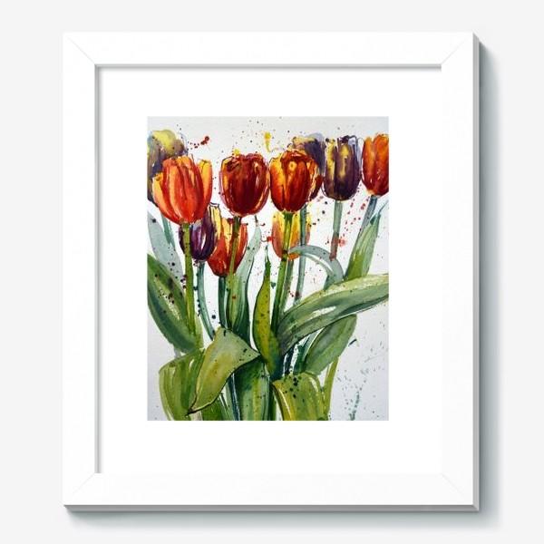 Картина «Тюльпаны акварелью»