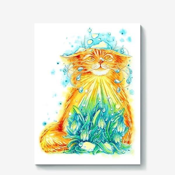 Холст «Кот. Рыжий, солнечный, весенний.»