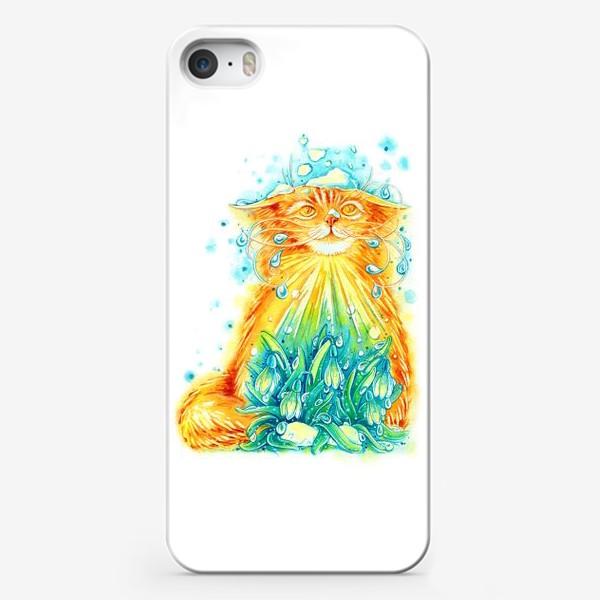 Чехол iPhone «Кот. Рыжий, солнечный, весенний.»