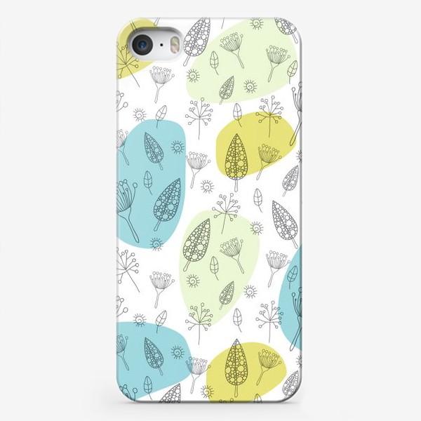 Чехол iPhone «Цветы и веточки»