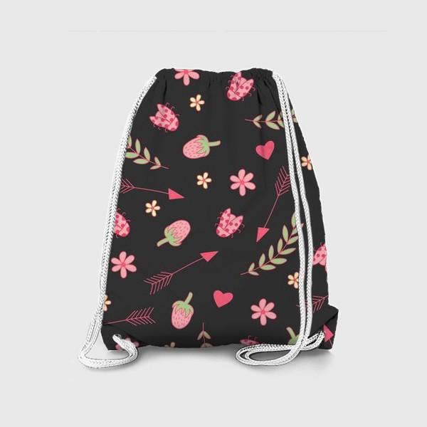 Рюкзак «Листья и букашки»