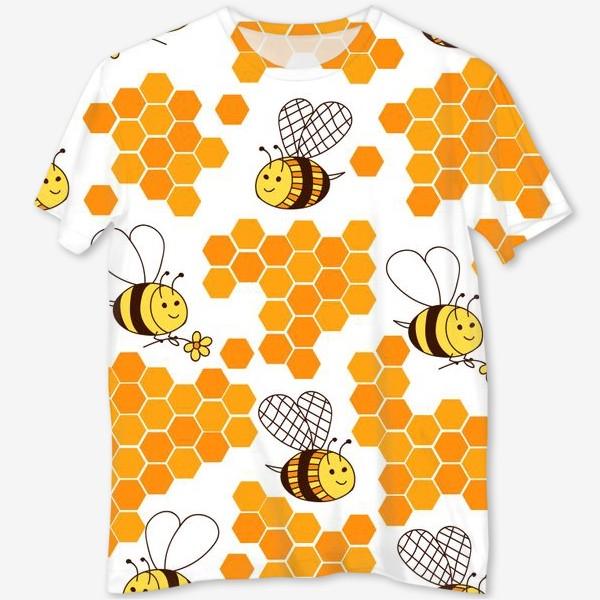 Футболка с полной запечаткой «Медовые пчелки»