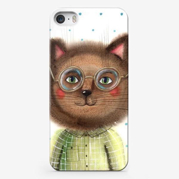 Чехол iPhone «Кот в очках»
