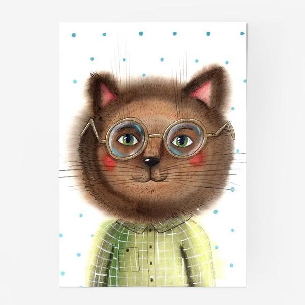 Постер «Кот в очках»