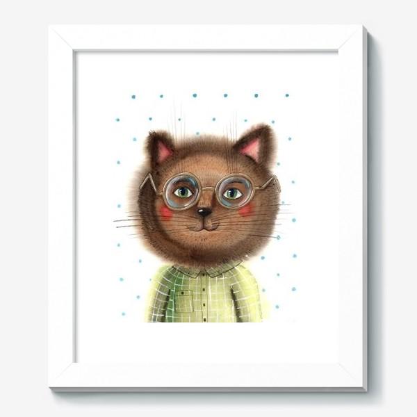 Картина «Кот в очках»