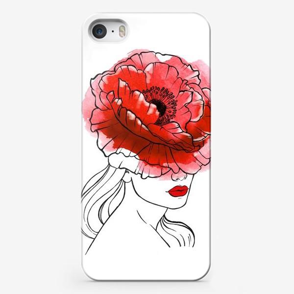 Чехол iPhone «Любовь и маки»