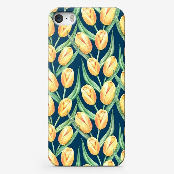 Чехол iPhone «Желтые тюльпаны»