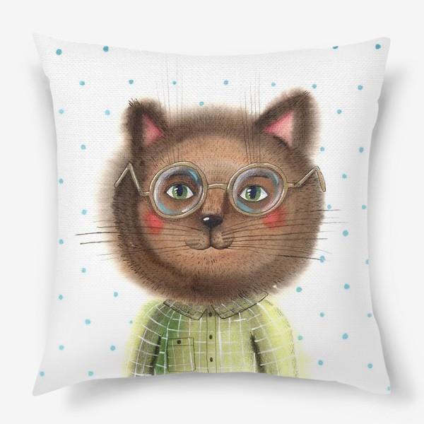 Подушка «Кот в очках»