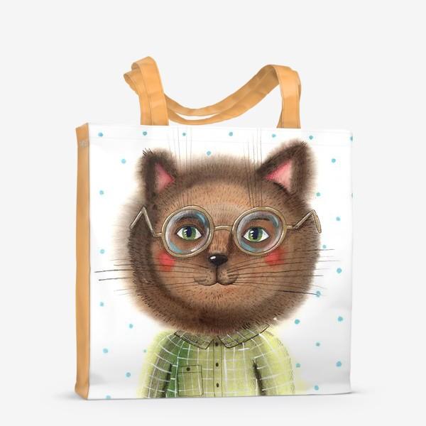 Сумка-шоппер «Кот в очках»