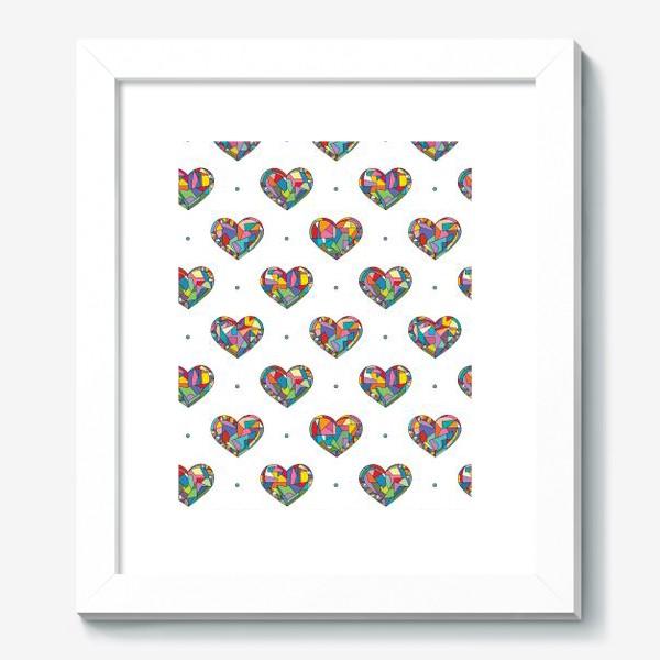 Картина «Геометрические сердечки»