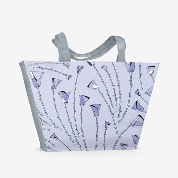 Пляжная сумка «Розы фиолетовые»