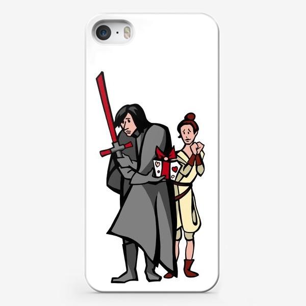 Чехол iPhone «Звёздные войны. Кайло Рен и Рей. Любимой в подарок.»