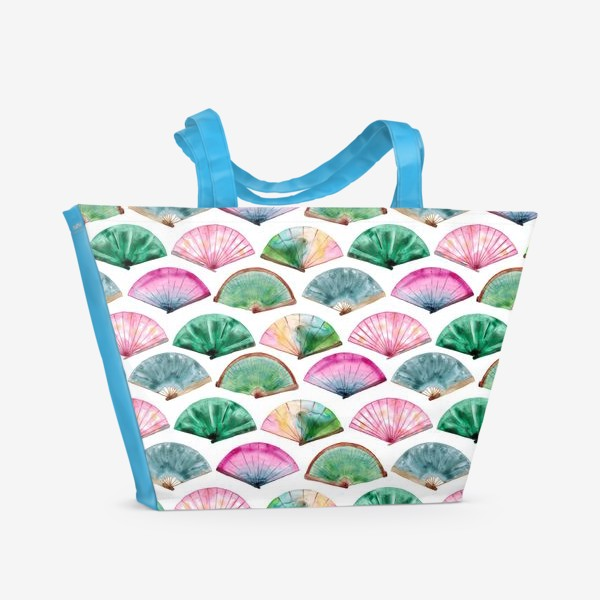Пляжная сумка «Паттерн с веерами»
