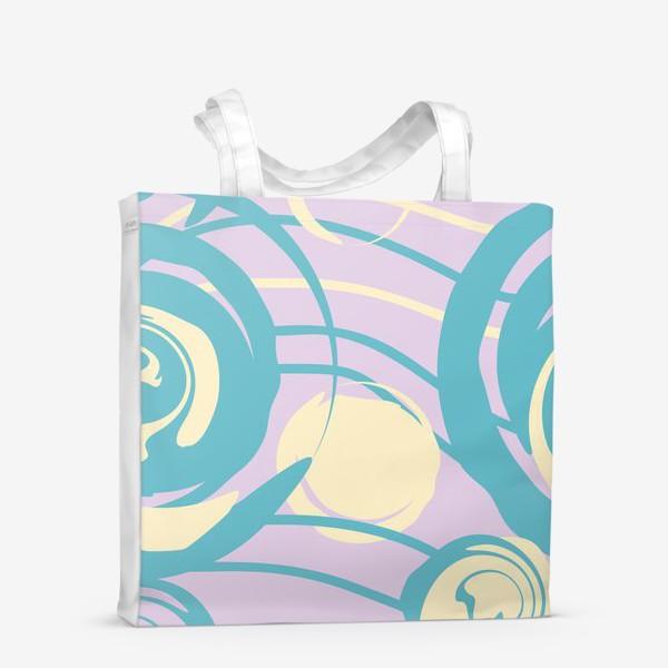 Сумка-шоппер «абстрактный фон круги и спирали»