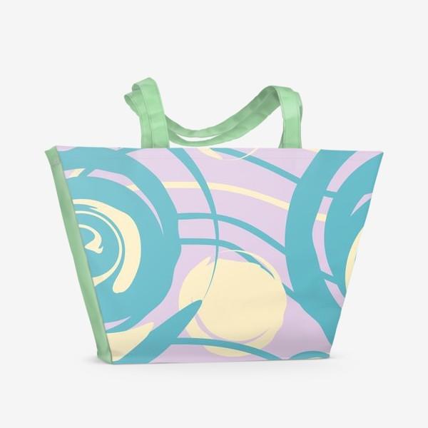 Пляжная сумка «абстрактный фон круги и спирали»