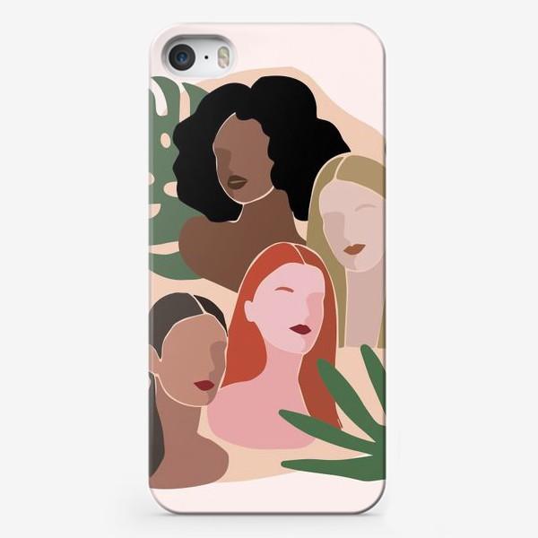 Чехол iPhone «Девушки и пальма»