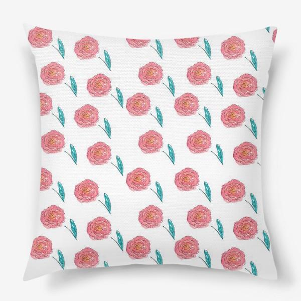 Подушка «Scketch Roses»