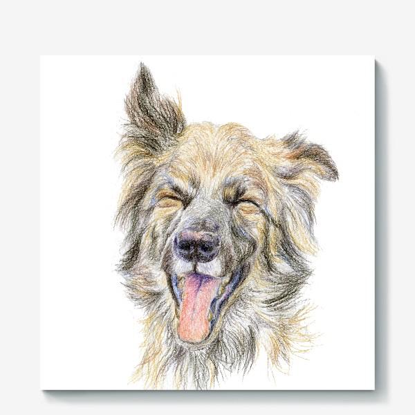 Холст «Собака смеётся »