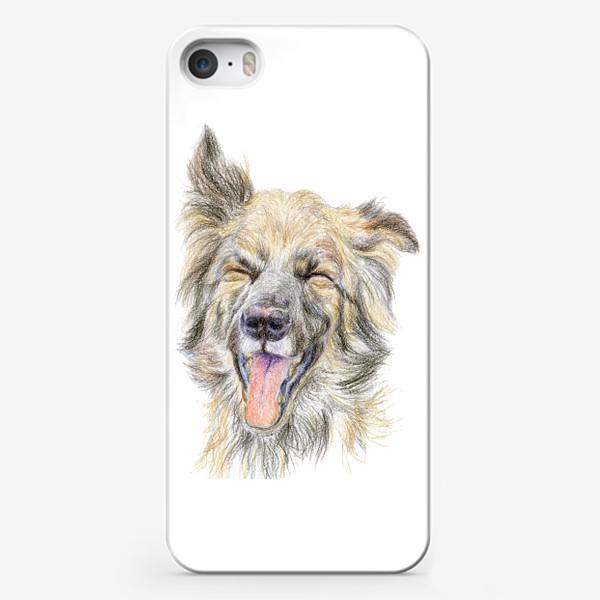 Чехол iPhone «Собака смеётся »