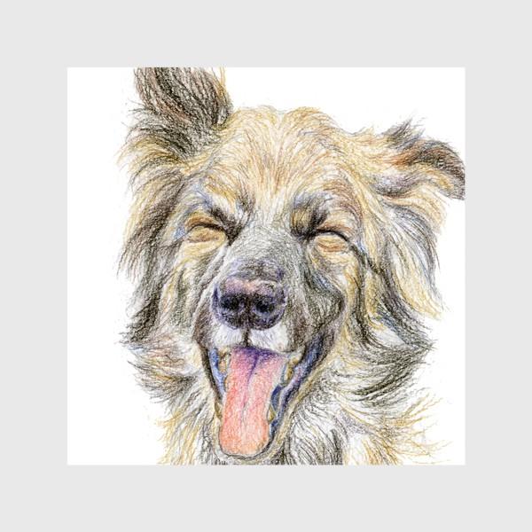 Шторы «Собака смеётся »