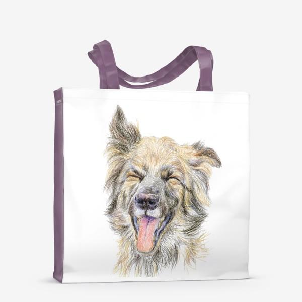 Сумка-шоппер «Собака смеётся »