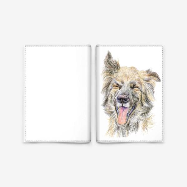 Обложка для паспорта «Собака смеётся »