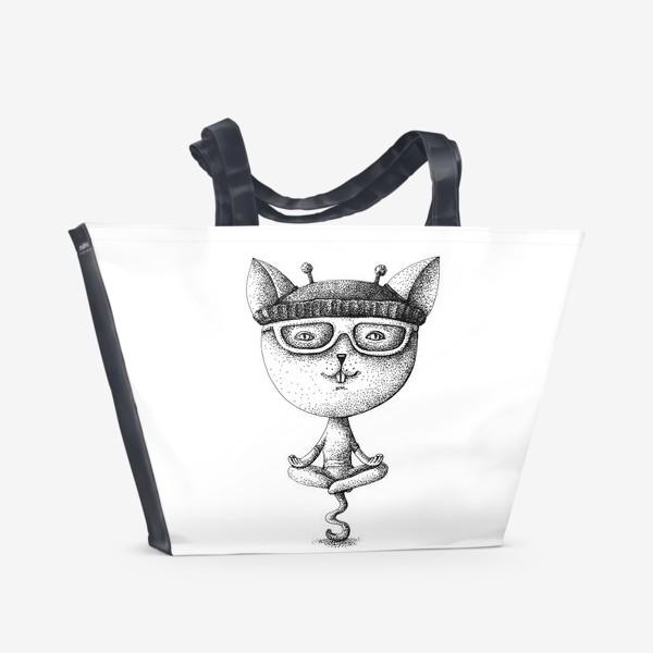 Пляжная сумка «котики»