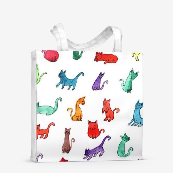 Сумка-шоппер «Разноцветные коты»