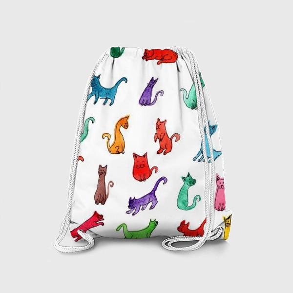 Рюкзак «Разноцветные коты»