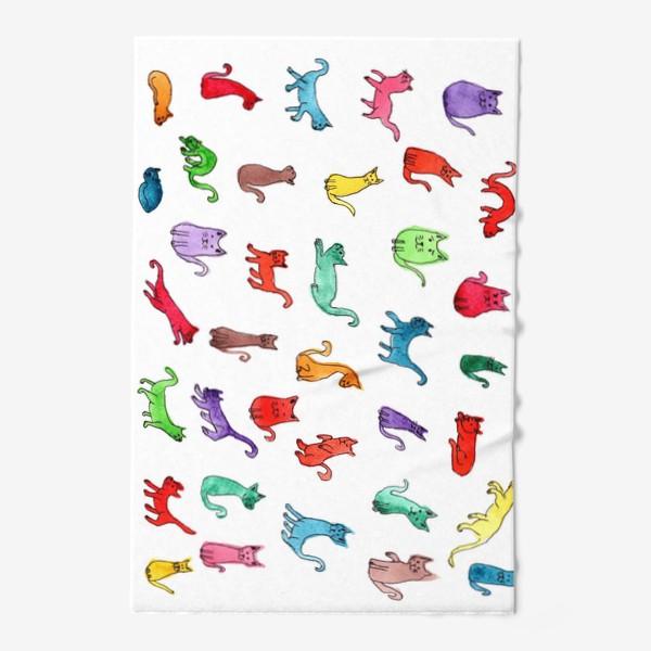 Полотенце «Разноцветные коты»